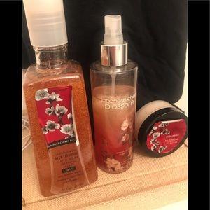 Bath & Body Works Japanese Cherry Blossom Set